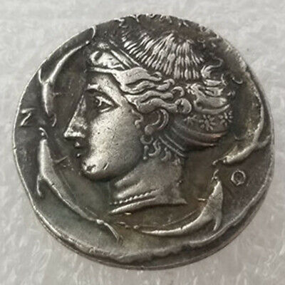 Rare Silver Plated Greek Ancient Coin The Great Greek Coin NO.36