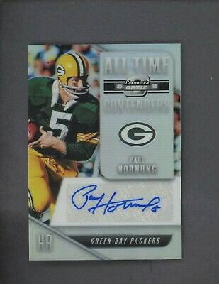 2018 Contenders Optic Prizm All-Time Paul Hornung HOF AUTO Green Bay Packers