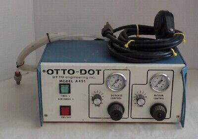 OTTO ENGINEERING OTTO A451 FLUID DISPENSER w/ FOOT PEDAL – working unit