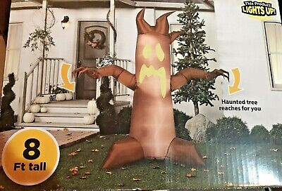 Halloween Airblown Inflatable Animated Reaching Tree Haunted 8 Foot