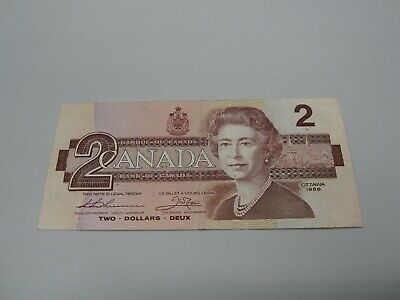 1986 - Canada $2 bill - Canadian two dollar note - BUE7497606