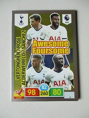 Panini Adrenalyn XL Premier League 2019/20 #400 Spurs Awesome Foursome Card