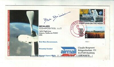 2004 Spaceship One Postal Cover Cachet Signed By Brian Binnie
