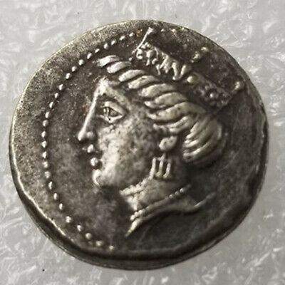 Rare Silver Plated Greek Ancient Coin The Great Greek Coin NO.43