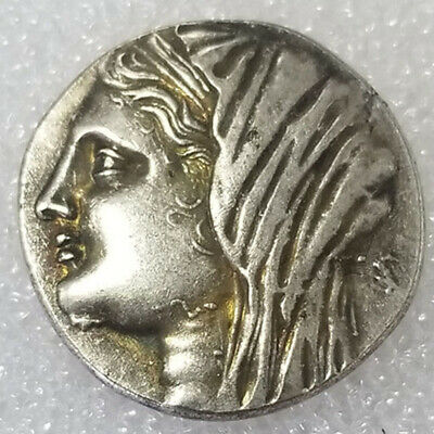 Rare Silver Plated Greek Ancient Coin The Great Greek Coin NO.452