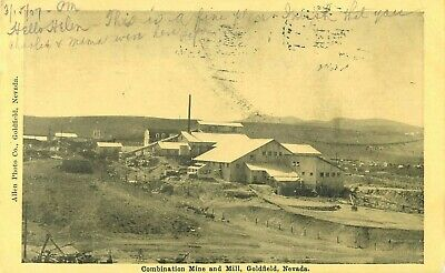 1907 Combination Mine and Mill, Goldfield, Nevada Postcard
