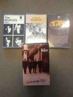 Beatles FIVE cassettes REVOLVER BEATLES WHITE part 1 LOVE SONGS LIVE AT BBC
