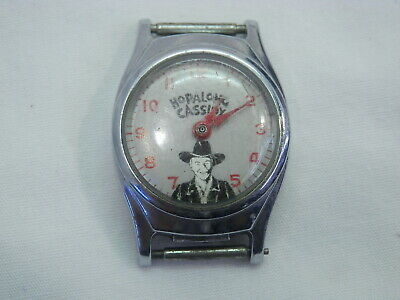 1950's Vintage Hopalong Cassidy Watch Face - Stainless Steel / Chrome Plated Bez