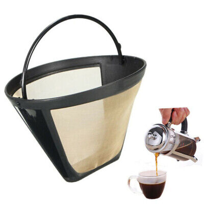 UK Stainless Mesh Coffee Filter Cup Cone Pour Over Drip Dripper Maker Holder