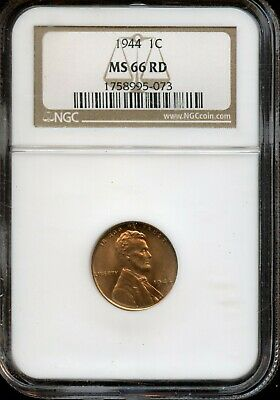 1944 NGC MS 66 RD (Mint State 66 Red) Lincoln Wheat Cent BO636