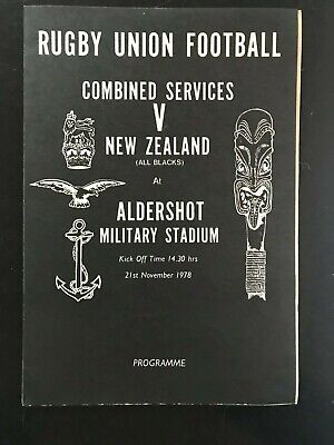 3575 - ALL BLACKS 1978 tour: Combined Services v New Zealand Rugby Programme