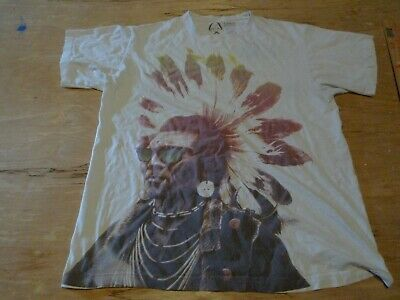 Mens Indian Native American Graphic ROOK T Shirt Size LARGE