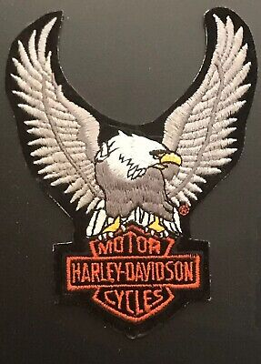 Original Harley Davidson Upwing Eagle Bar And Shield Vest Patch * Small *
