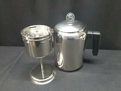 UNUSED COPCO Stainless Steel 8 Cup Stove Top Coffee Pot Percolator, Camping