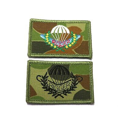c.2010's Australian Army Parachute Rigger patch set of 2 -Subdued & Colour