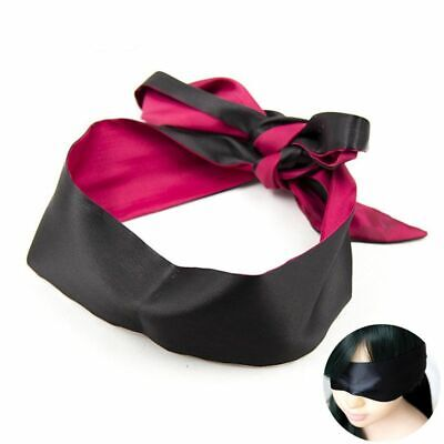 Role Play Couple Sleeping Black Bondage Ribbon Blindfold Avoid Light Eye Mask
