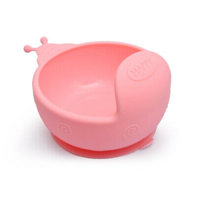 Anti-fall Easy To Clean Suction Cup Base Baby Bowl Durable Silicone Snail Shape