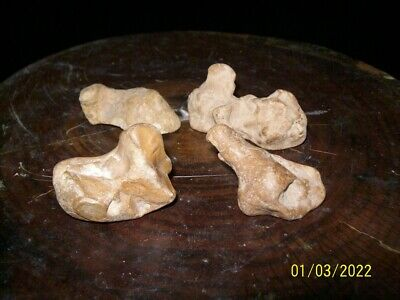 PALEO  'Bird Stone' Effigy  Prehistoric Tool Artifact  lot of 3