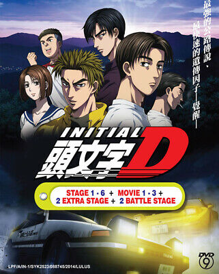 Anime DVD Initial D Stage 1-6 + 3 Movie + 2 Extra Stage + 2 Battle *English Sub*