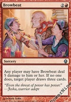 Red PDS Fire and Lightning Mtg Magic R 4 PreCon PLAYED FOIL Hammer of Bogardan