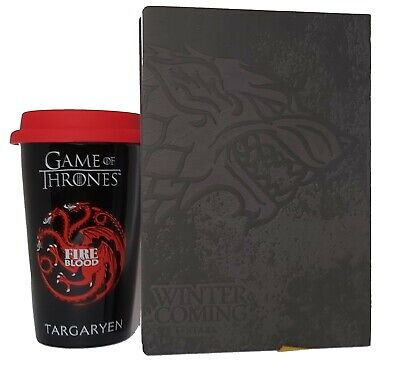 Game Of Thrones House Targaryen Tasse und GOT Notizblock - Reise Kaffeebecher