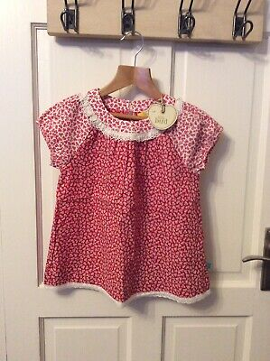 Girls Floral Top Little Bird By Jooles Oliver Bnwt 5-6 Years