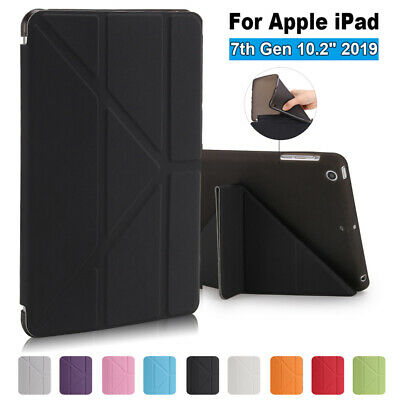 "For Apple iPad 7th 10.2""Ultra Slim Magnetic Smart Case Leather Tablet Cover TPU"