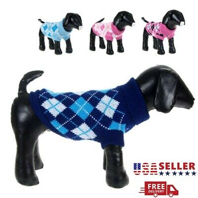 Pet Dog Sweater Puppy Knit Jacket Clothes Apparel For Small Medium Large XS-2XL
