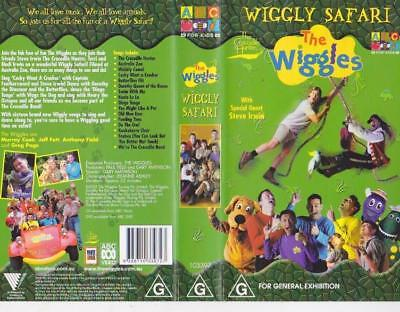 The Wiggles Wiggly Safari  Vhs Video Pal~ A Rare Find