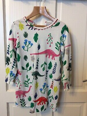 Girls Nightdress Dino Print 3-4 Years Euc