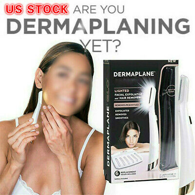 Hair Remover & Finishing Touch Flawless Dermaplane GLO Lighted Facial Exfoliator