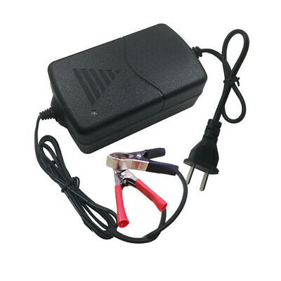 12V 1A Universal Portable Car Truck Motorcycle Alligators Clip Battery Charger s