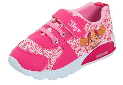 Paw Patrol Girls Light Up Trainers Flashing Lights Toddlers Infants First Shoes