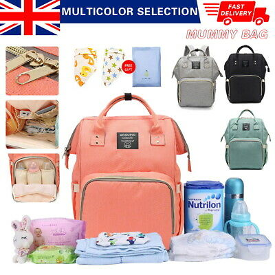 Multi-use Large Mummy Baby Bag Backpack Diaper Nappy Changing Travel Hospital