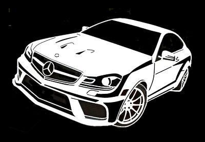 high detail airbrush stencil mercedes car  FREE UK POST
