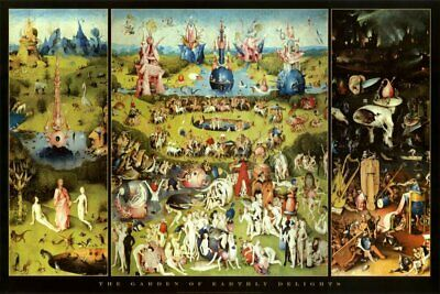 New - Hieronymus Bosch Garden of Earthly Delights Art Poster Print 24 x 36