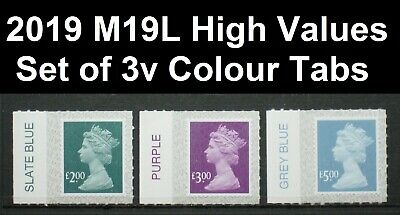 2019 M19L Walsall   £2 £3 £5  WALSALL High Value Set 3v -  Colour TAB SINGLES