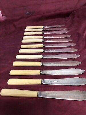 "Twelve 8"" Mappin & Webb Princes Plate Knives"