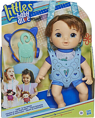 Baby Alive Littles Carry 'N Go Squad - Little Matteo Brown Hair Boy Doll Kid