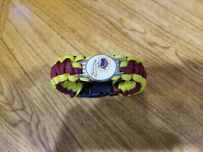 NFL Football Paracord Bracelet Wrap Wristband 10 pcs ,redskins fan