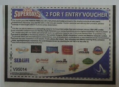2 FOR 1 VOUCHER for Chessington World of Adventures Resort Tickets