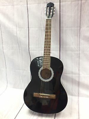 RIO Full Size 6 String Student Classical Acoustic Guitar In Black - T19
