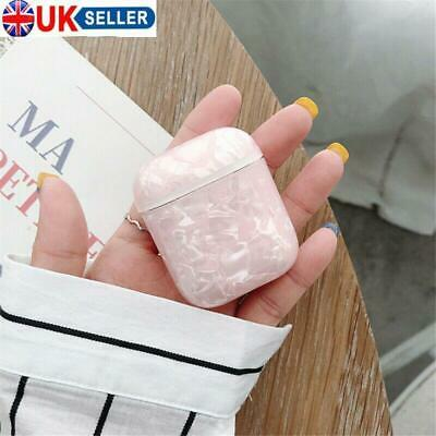 Box Protective Case Cover Hard PC For airpods 1 2 Bag Shell Marble Stone