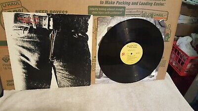 Original 1971 The Rolling Stones Sticky Fingers Lp Andy Warhol Zipper Cover