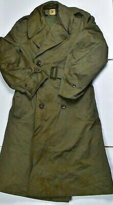 US ARMY WW2 WWII M1938 OFFICER'S FIELD COAT trench 1944 W/ LINER REGULAR SMALL