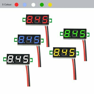 "5pcs Multicolor 0.28"" Mini 2.5-30V Digital DC Voltmeter Voltage Tester Meter US"