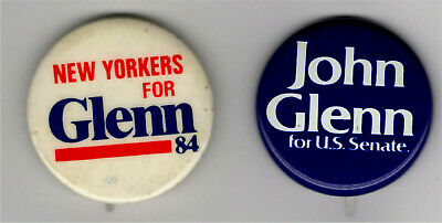 Vintage Political John Glenn Pin U S Senate Pin 2 Pin Lot