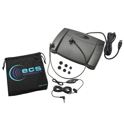 Infinity IN-USB-2 USB Foot Pedal with WordSleuth WSUC3.5-A Under-chin Headset