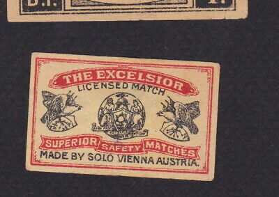 AE Old small Matchbox label  Austria  WWWWW33 The Excelsior