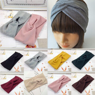 Knot Turban Twisted Head Twist Cotton Women Girl Band Knotted Headband Wrap Hair